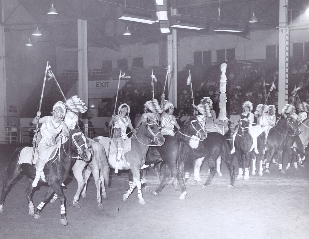 "The ""Indian Fantasy"" act at Annual Show, circa 1965"