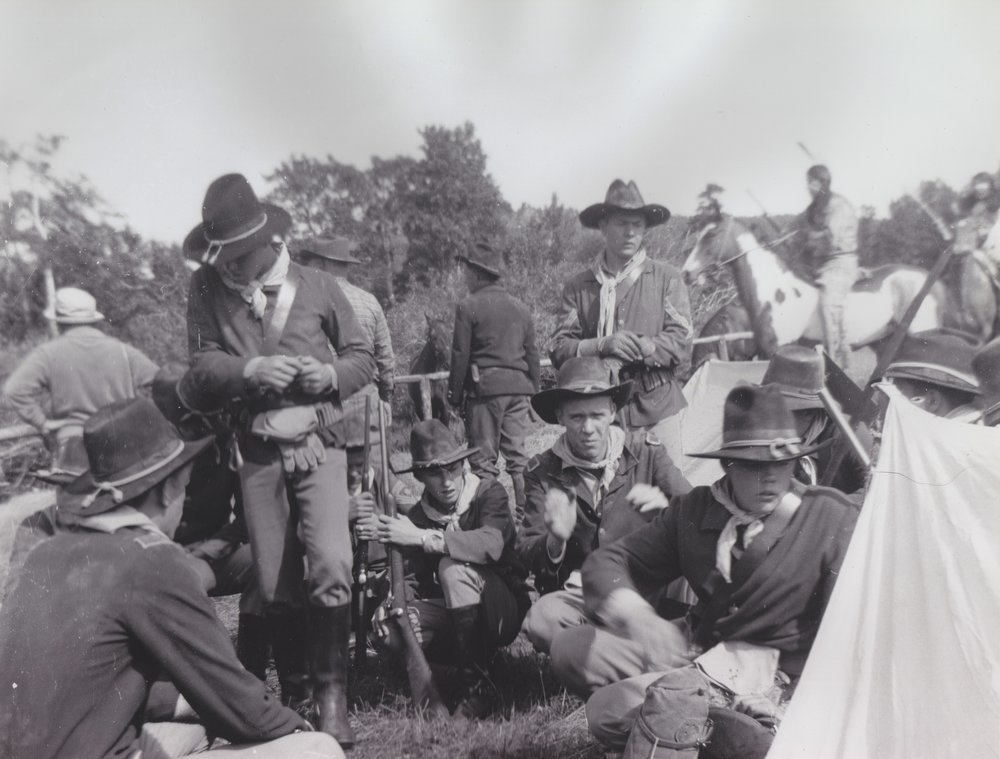 The Cavalry team performed stuntwork in the skirmish with the Sioux in  Stagecoach  (1966).