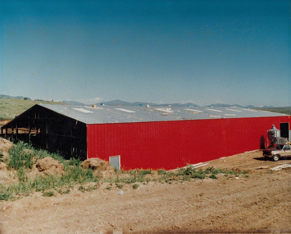 "The exterior of the ""new"" Red Arena, dedicated on November 15th, 1986.  Unlike the original Red Arena, this one is actually red in color."