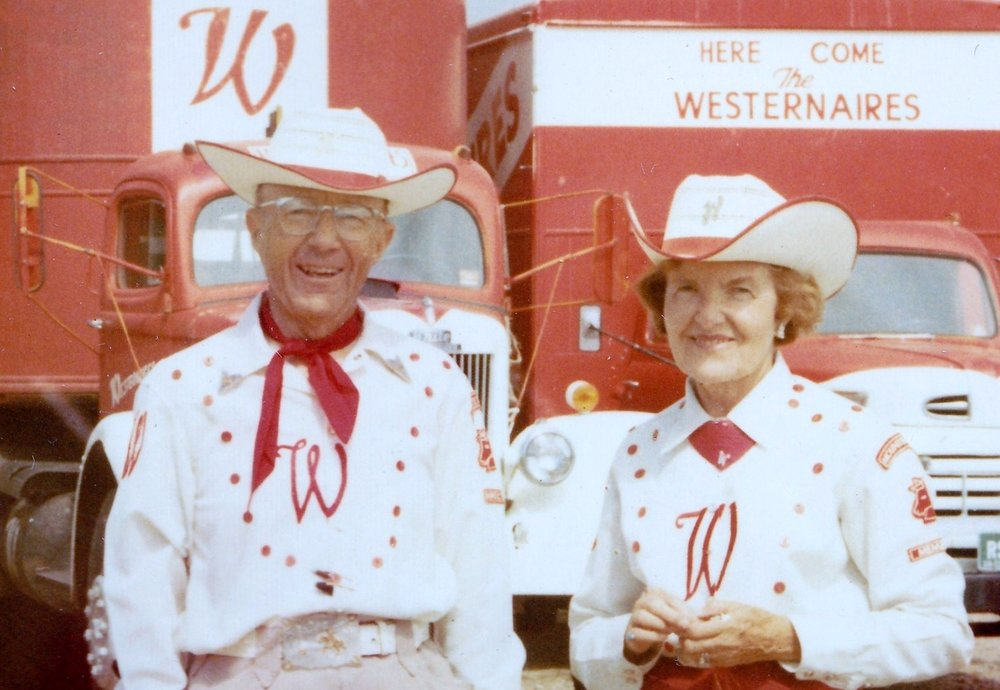 Westernaires founders Elmer E. Wyland and Marjorie Wyland, circa 1965