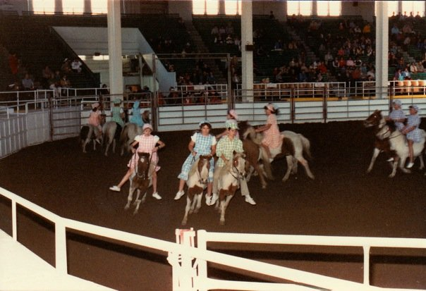 The Pony Hoedowners team performs at the 1984 Annual Show.