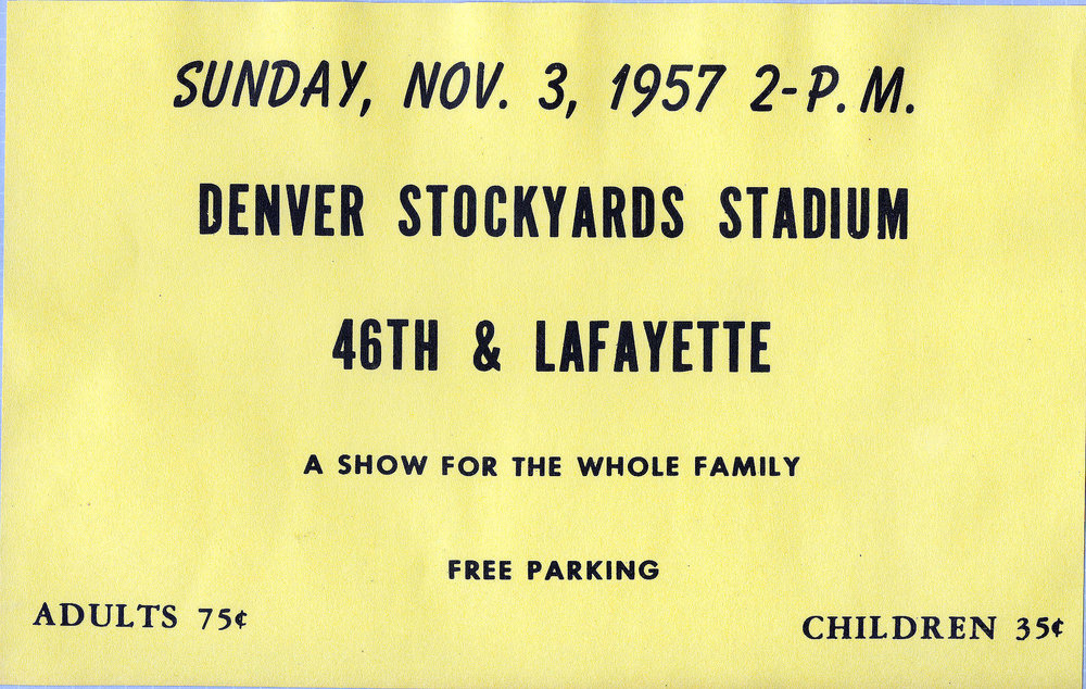 A Horsecapades show ticket from 1957.