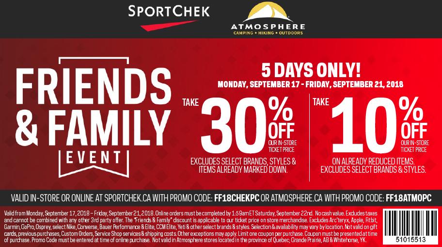 PlayCity App + SportChek Family and Friends Discount — Sport Calgary