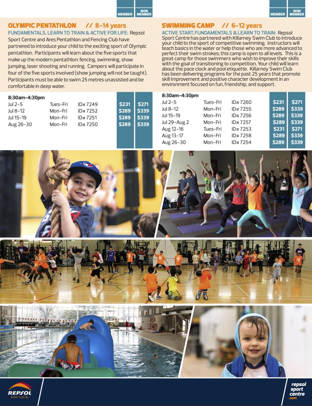 Olympic Pentathlon Summer Camps