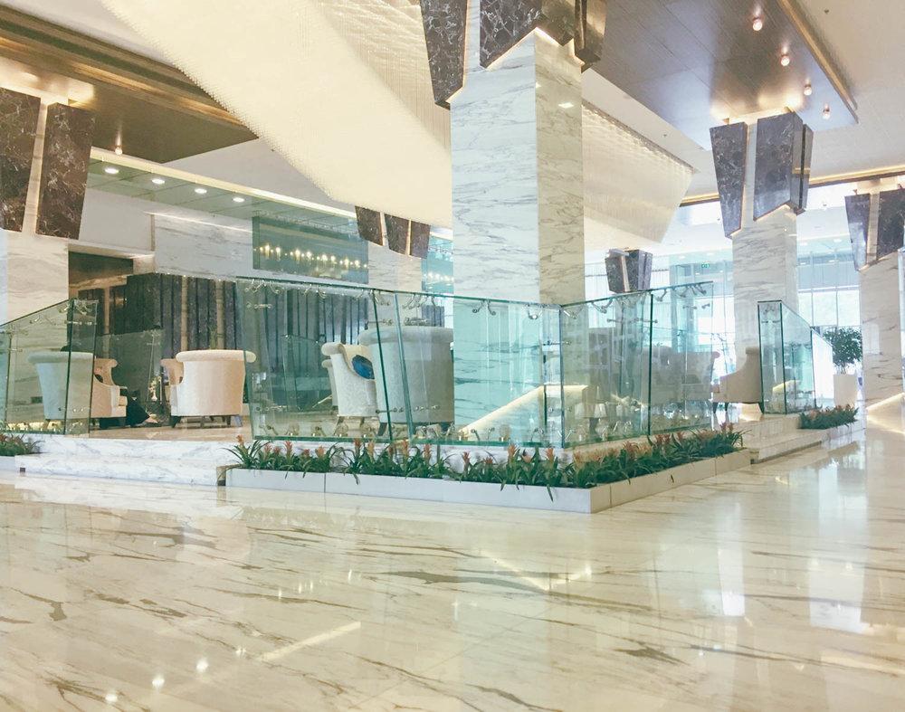 The Atana Hotel Dubai Lobby.