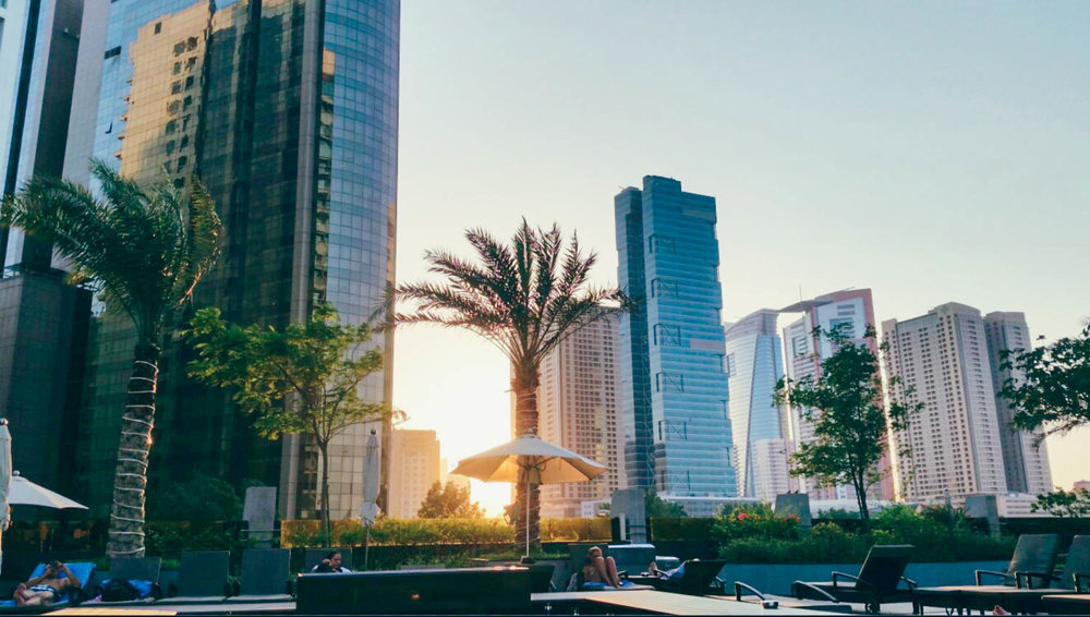 The Atana Hotel Dubai shisha terrace.
