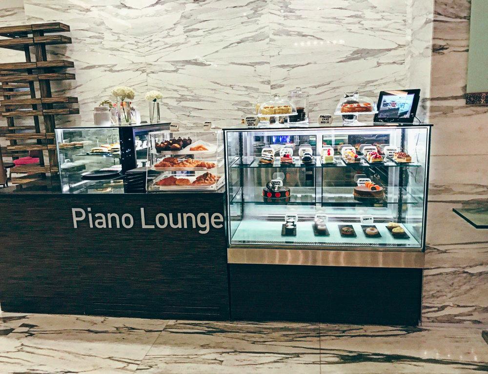 The Atana Hotel Dubai piano lounge.