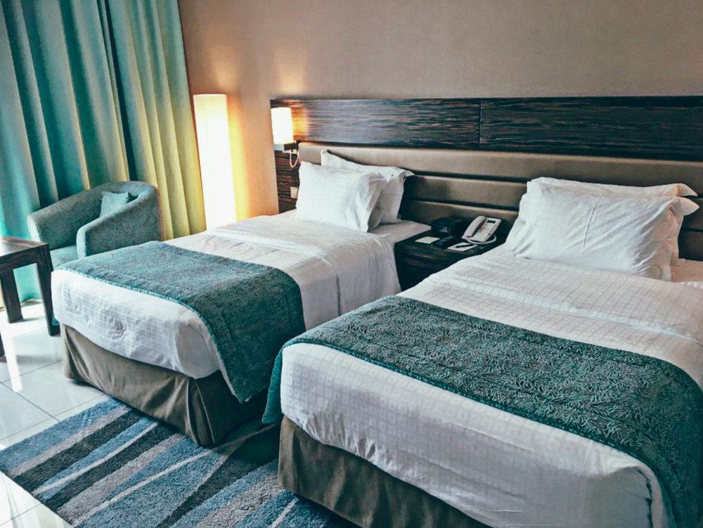 The Atana Hotel Dubai bedroom.