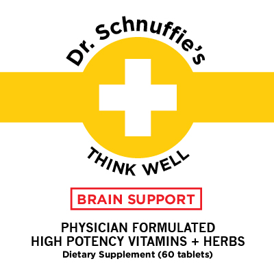 Dr Schnuffies Brain Support High Quality Premium Health Supplement Natural Vitamin High Potency Vitamin D High Dose