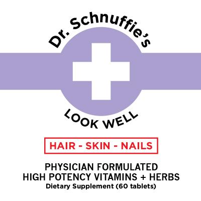 Dr Schnuffies Wellness Formulas Hair Skin Nails Hair Loss Long Nails ANti-Aging Actually Works Natural Remedy Vitamin Supplement