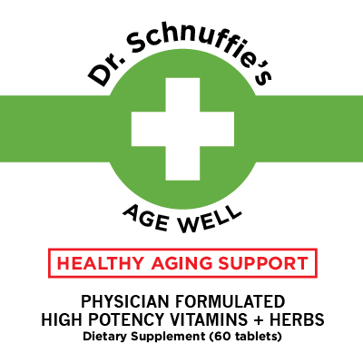 Dr Schnuffies Wellness Formulas Age Well Anti-Aging Look Younger Vitamin Supplement Natural Support High Quality American Made