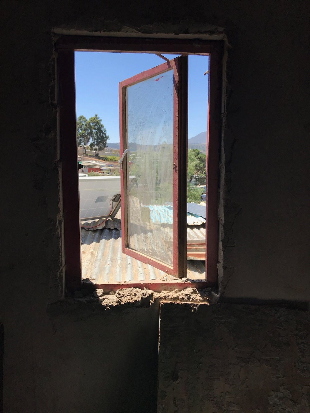 window in kitchen area