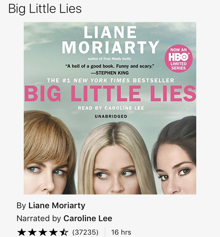 Big Little Lies - Liane Moriarty - For when you need a little drama and suspense in your life...