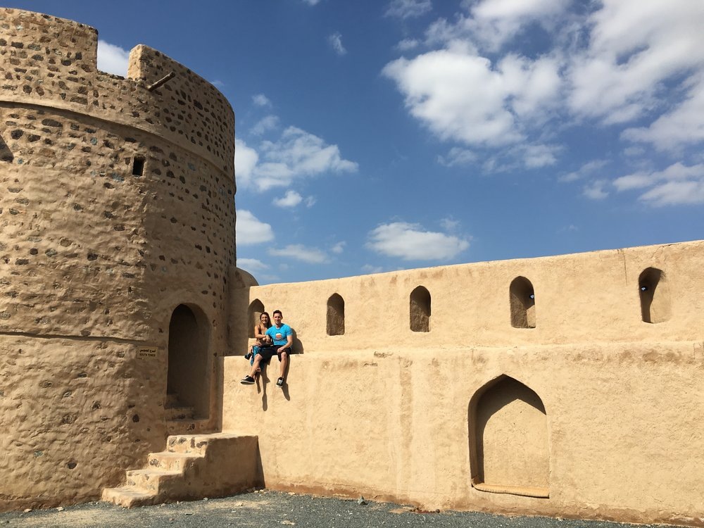 High off of perfume, - We continued on to adventure through the Fujairah Fort, full of hidden staircases.