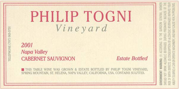 Source: Philip Togni Vineyard