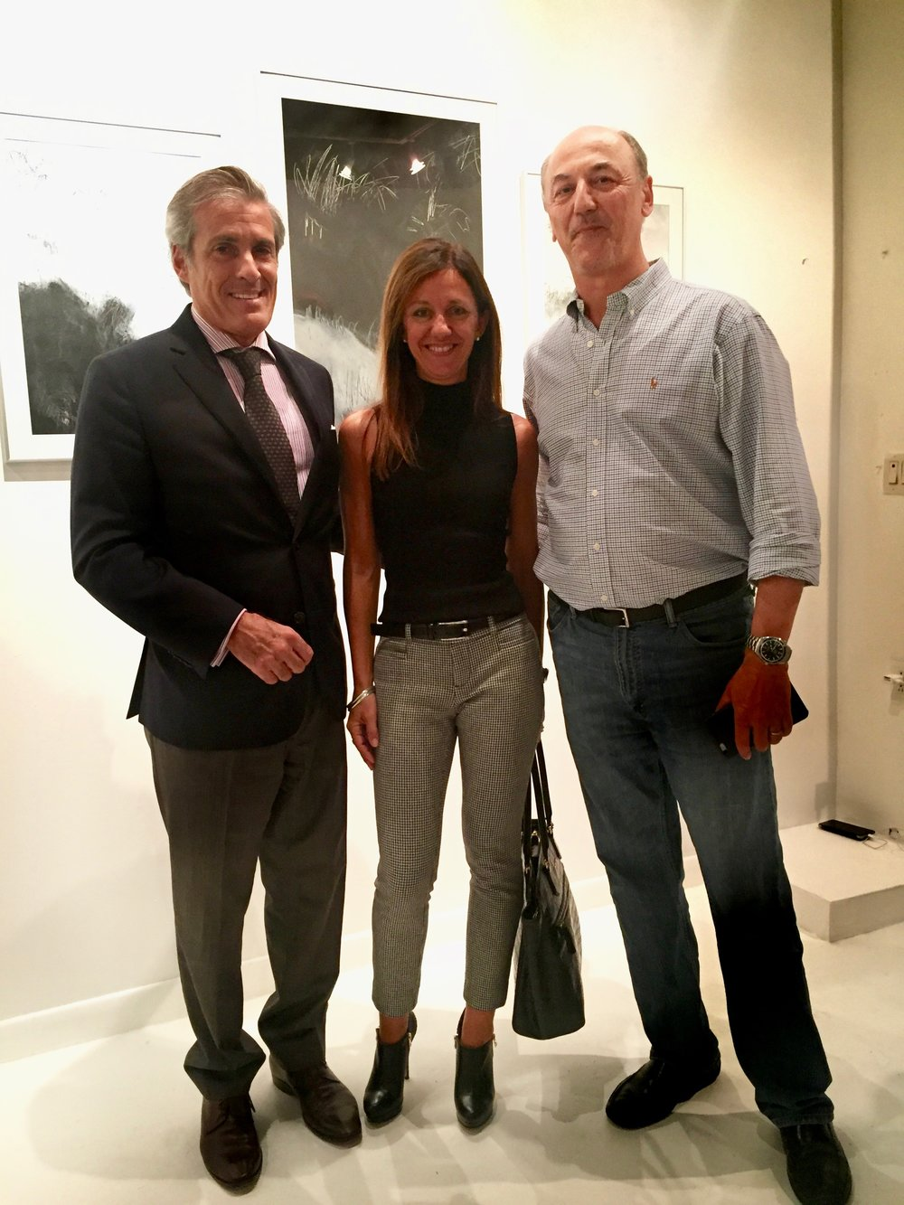 Ricardo and Graciela Trotti, with Argentine Consul in Miami, Marcelo Guisto