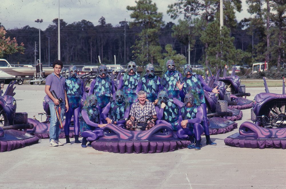 Fleet of Neoteric craft flown by Human Lizards at Disney's Orlando Epcot Center