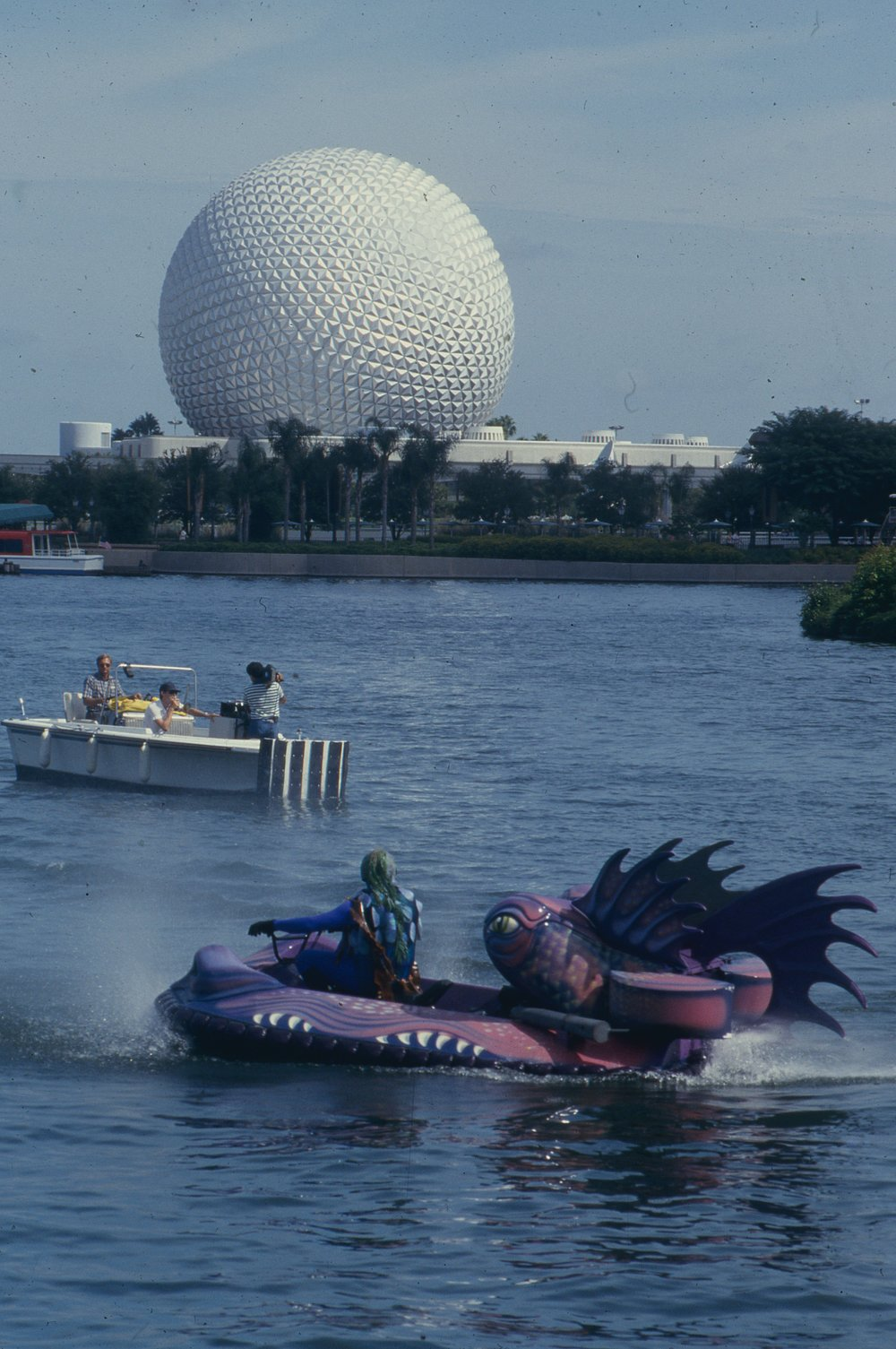 1985 Hovercraft Dragon's Operating at Disney's Epcot Center, Orlando, Florida, USA