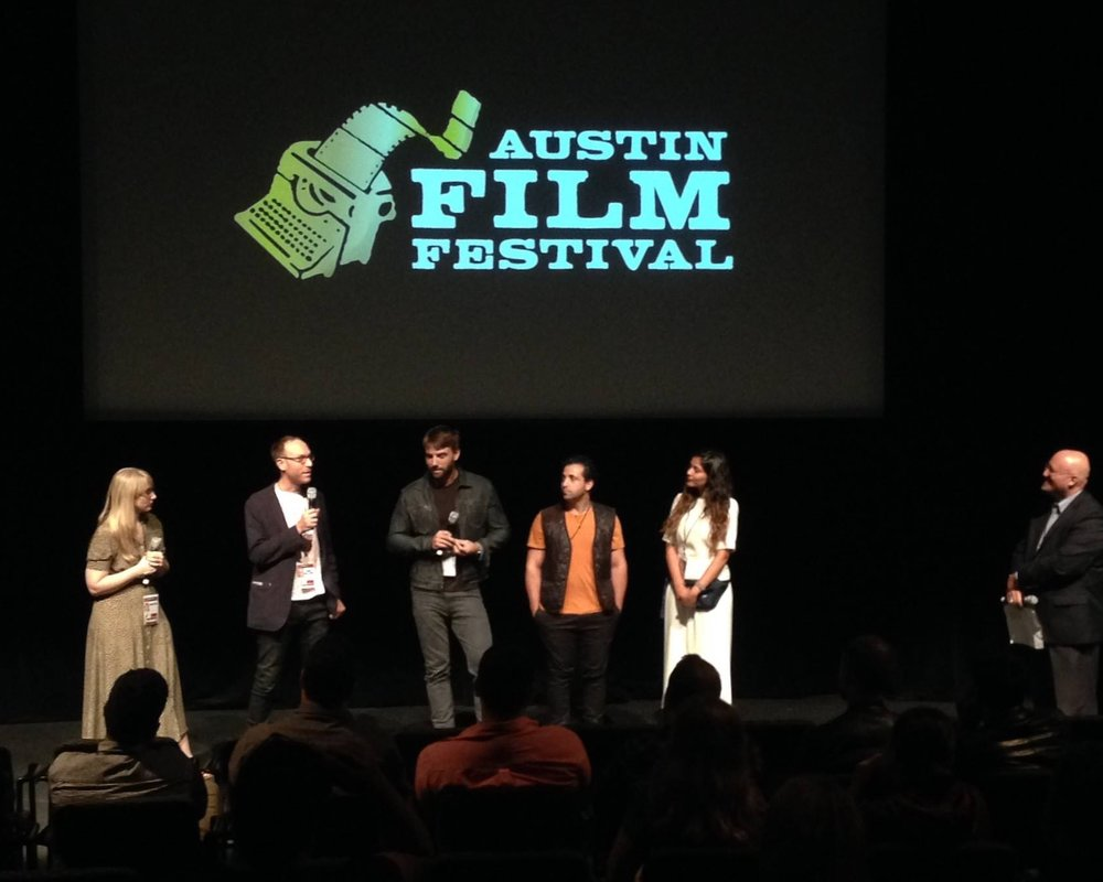 Clayton Dean Smith and filmmakers at the Austin Film Festival