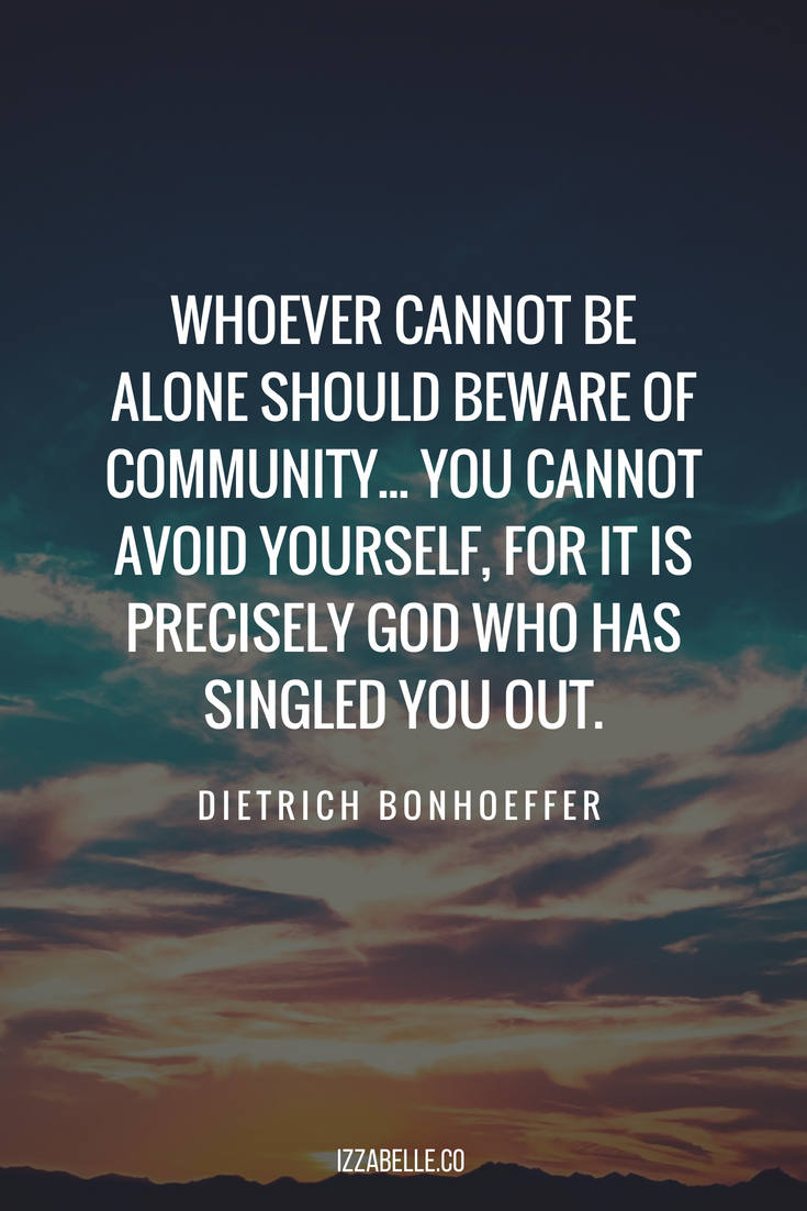 dietrich bonhoeffer quotes christian community life together