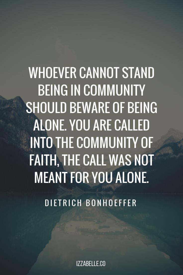 dietrich bonhoeffer quotes christian community