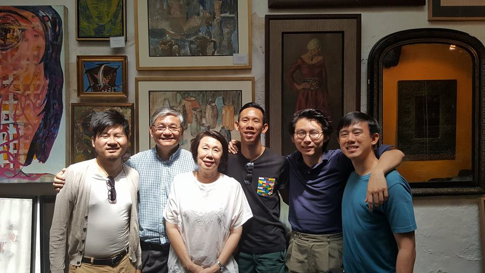 Bernice and Soo-Inn with their four sons