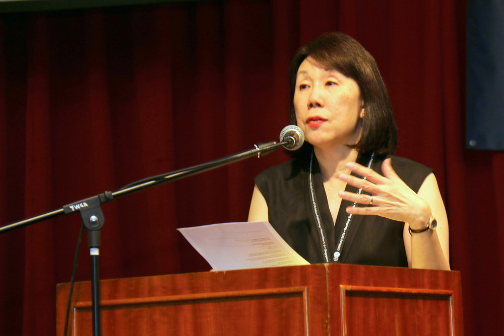 Bernice speaking at the opening of the LittWorld conference, a triennial event on Christian publishing, in 2015