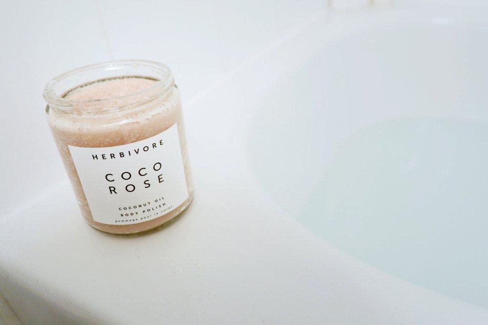 herbivore coco rose body polish review