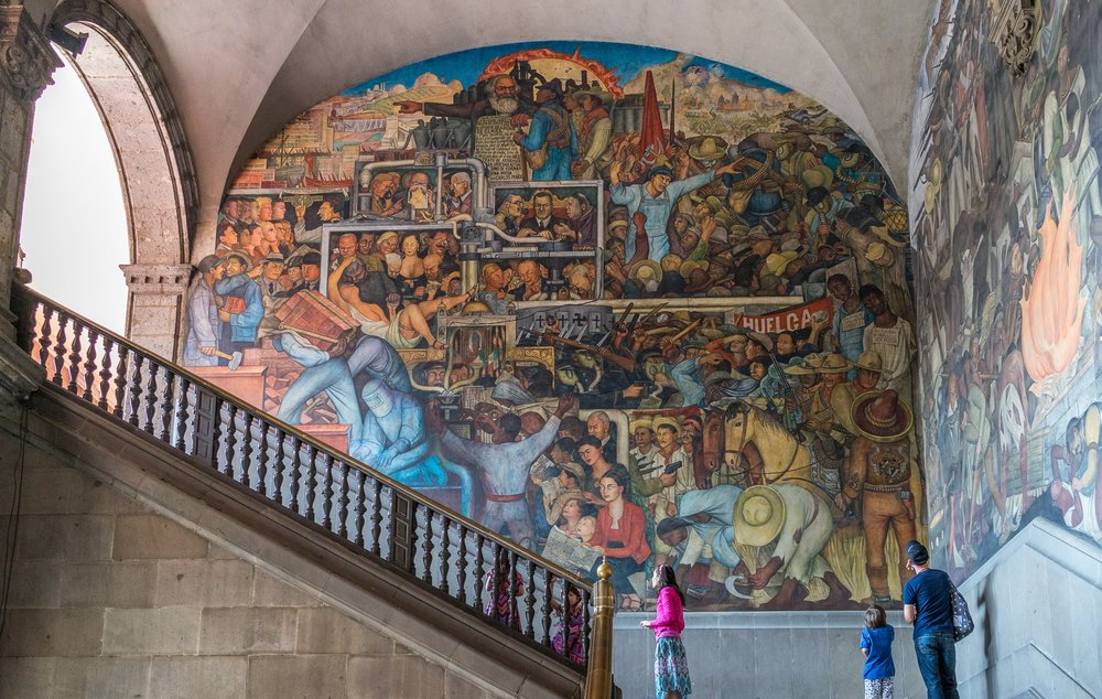 Mexican Muralism   Mexico's greatest contribution to twentieth-century art was the muralist movement. On this tour you'll see work by its three most famous exponents, Diego Rivera, Jose Clemente Orozco and David Alfaro Siqueiros (as well as some lesser-known artists). Their stories, their rivalries, their contradictions, and their distinct techniques are highlighted.