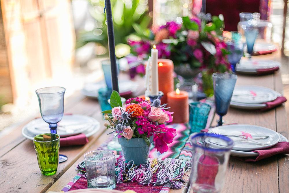 Colored Glassware - $2.00
