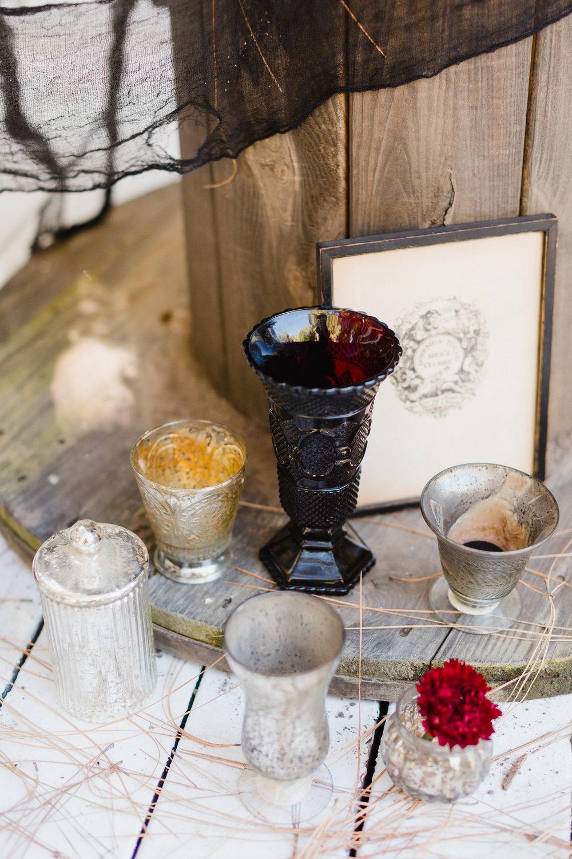 MERCURY GLASS CANDLEHOLDERS - $4.50 each, $25.00 set