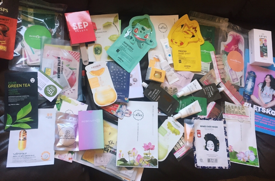 This haul was nuts! Keep in mind there are even more products inside of pouches...