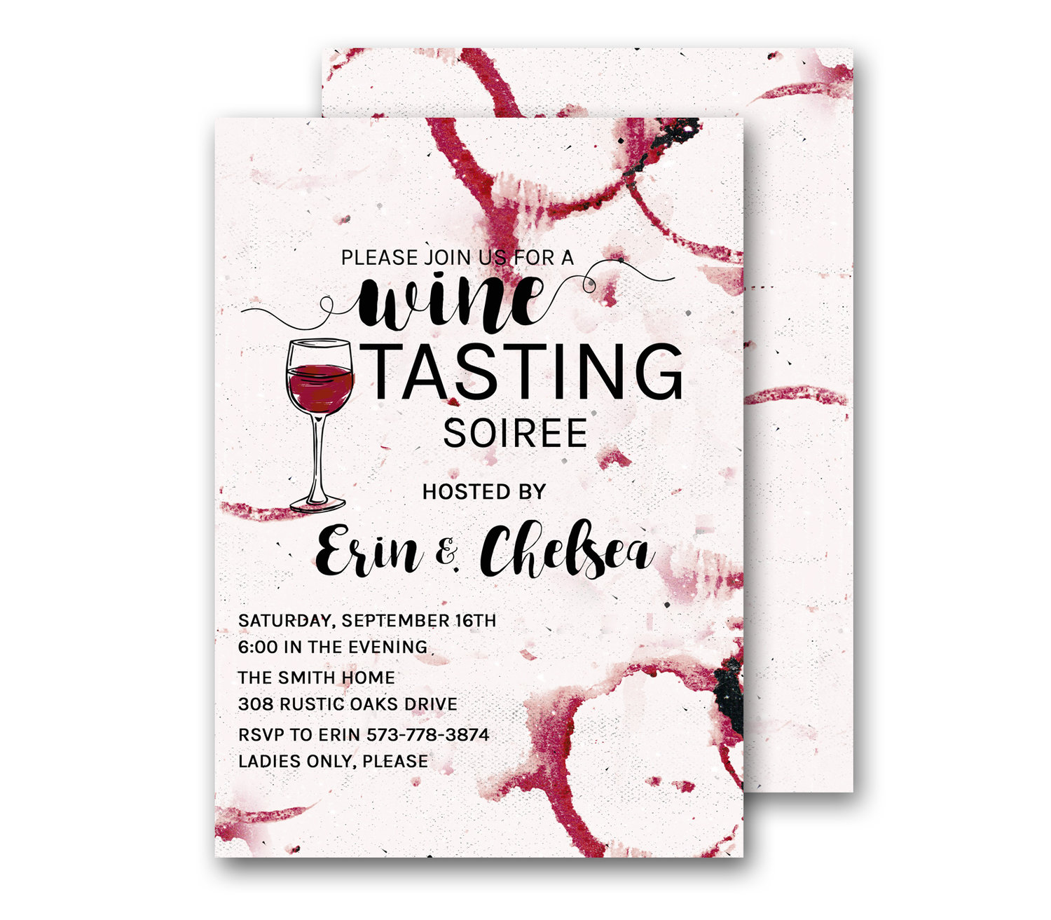 wine tasting party invitations wine and cheese soiree invite red