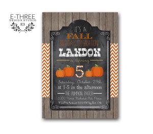 Fall Festival Birthday Party Invitation