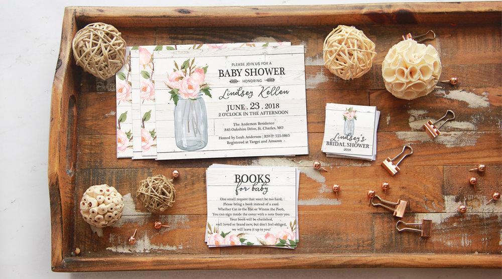Farmhouse Baby Shower Invitations