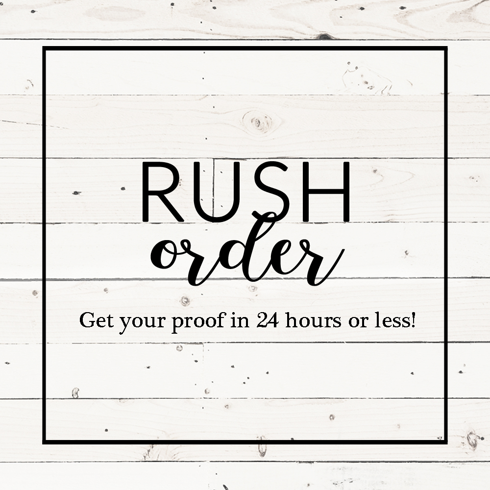 Rush Order Listing E Three Designs Rush Order Fee For Invitation Designs E Three Design Studio