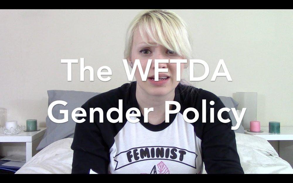 NoxTalks: The WFTDA Gender Policy