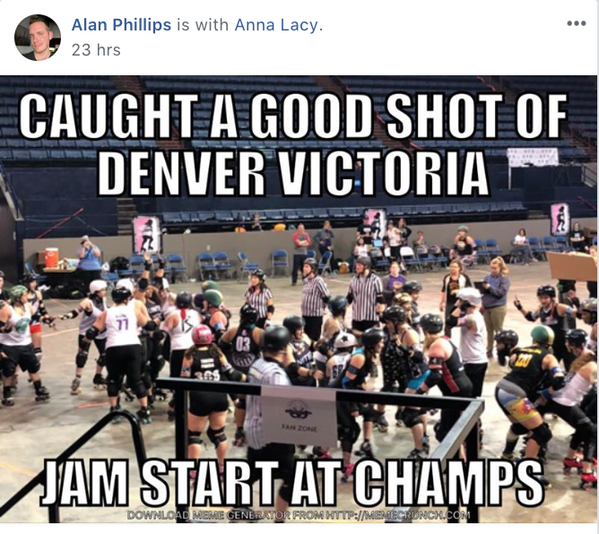 Posted in Roller Derby Memes (Main) Group
