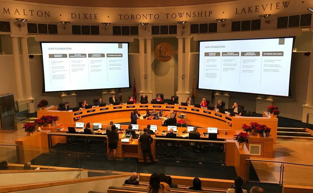 Mississauga city council received delegations from members of the community and business leaders on Wednesday before opting out of allowing retail cannabis stores in the city starting April 1, 2019.  (ALI RAZA / METROLAND)