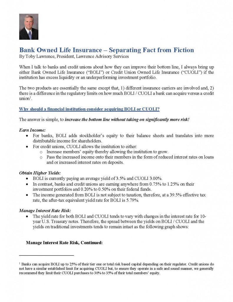Bank Officer Life Insurance - Separating Fact from Fiction_Page_1