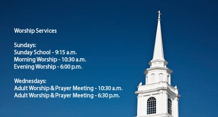 Worship Services at White Oak Baptist Church