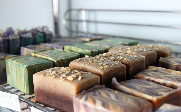 In general, buying in bulk and producing larger quantities of soap is more cost effective and results in more profit than buying and producing smaller batches.