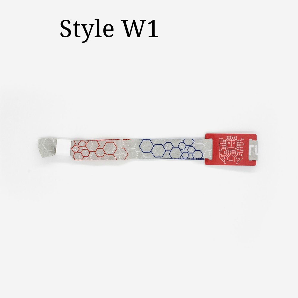 Event Wristband with NFC and Custom Graphics