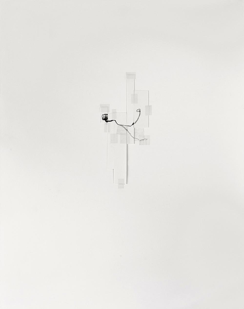 stillness,  2015 collaboration with Janine Antoni  gouache, tape, paper 22 x 16 in / 56 x 41 cm