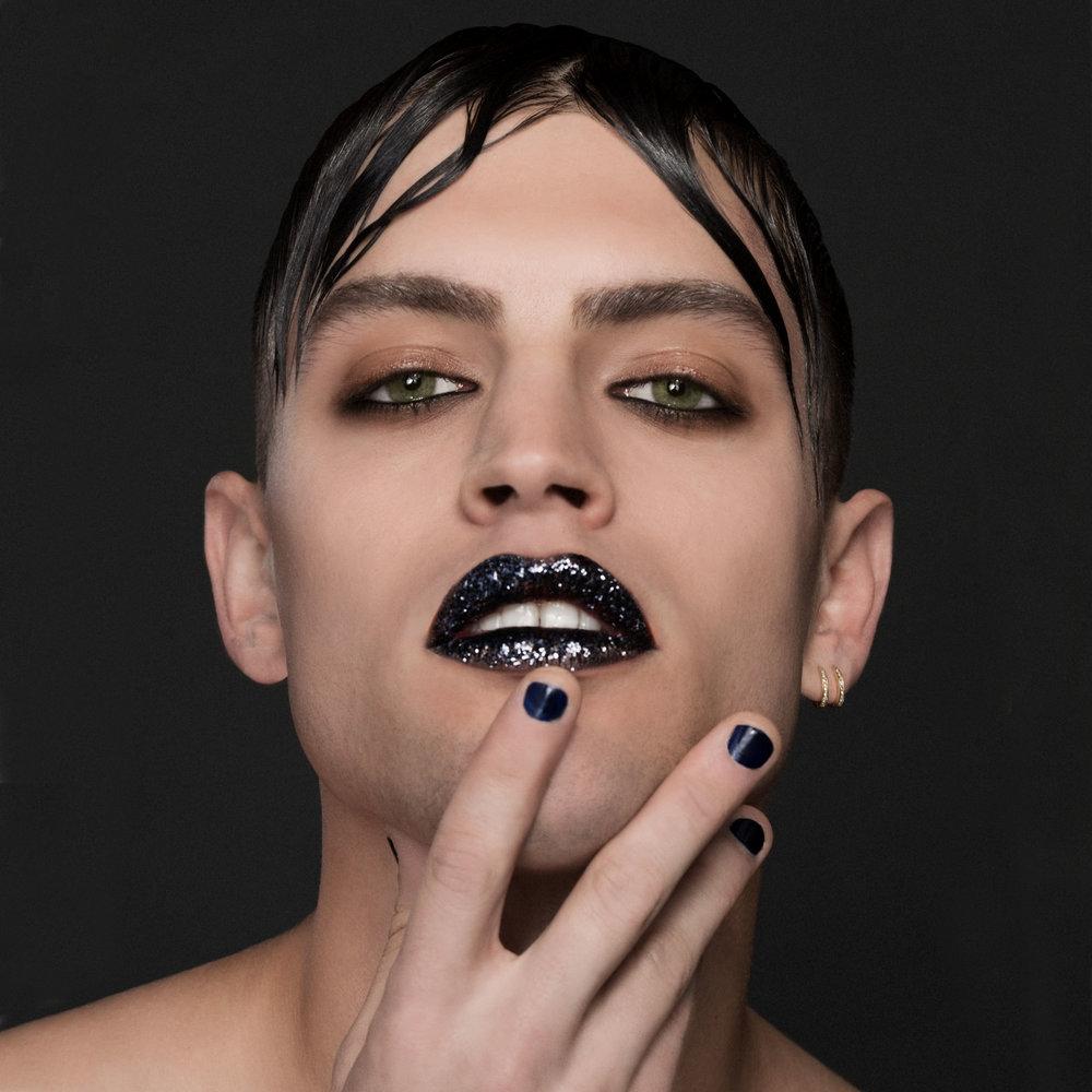 ON MAKEUP MAGAZINE - FALL 2017  MUSE:Maxwell Runko  PHOTO: Matt Licari  HAIR: Louise Frost for CODE Salon  MAKEUP: Alphonse Wiebelt