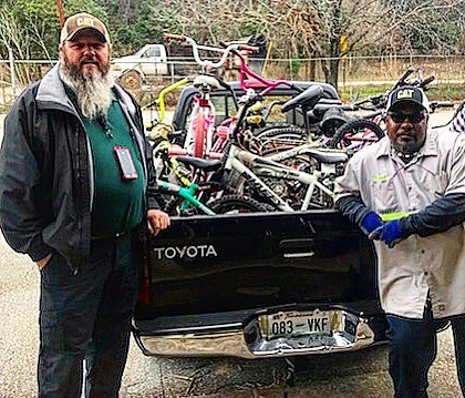 Grateful to @maconbibbcounty Waste Management for donating these bikes to the Re-Cycle Macon program!