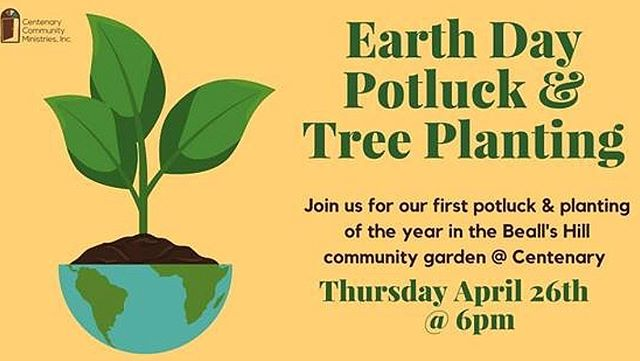 Join us Thursday. April 26th @6pm in the community garden for a special Earth Day potluck and planting! Bring a dish to share!