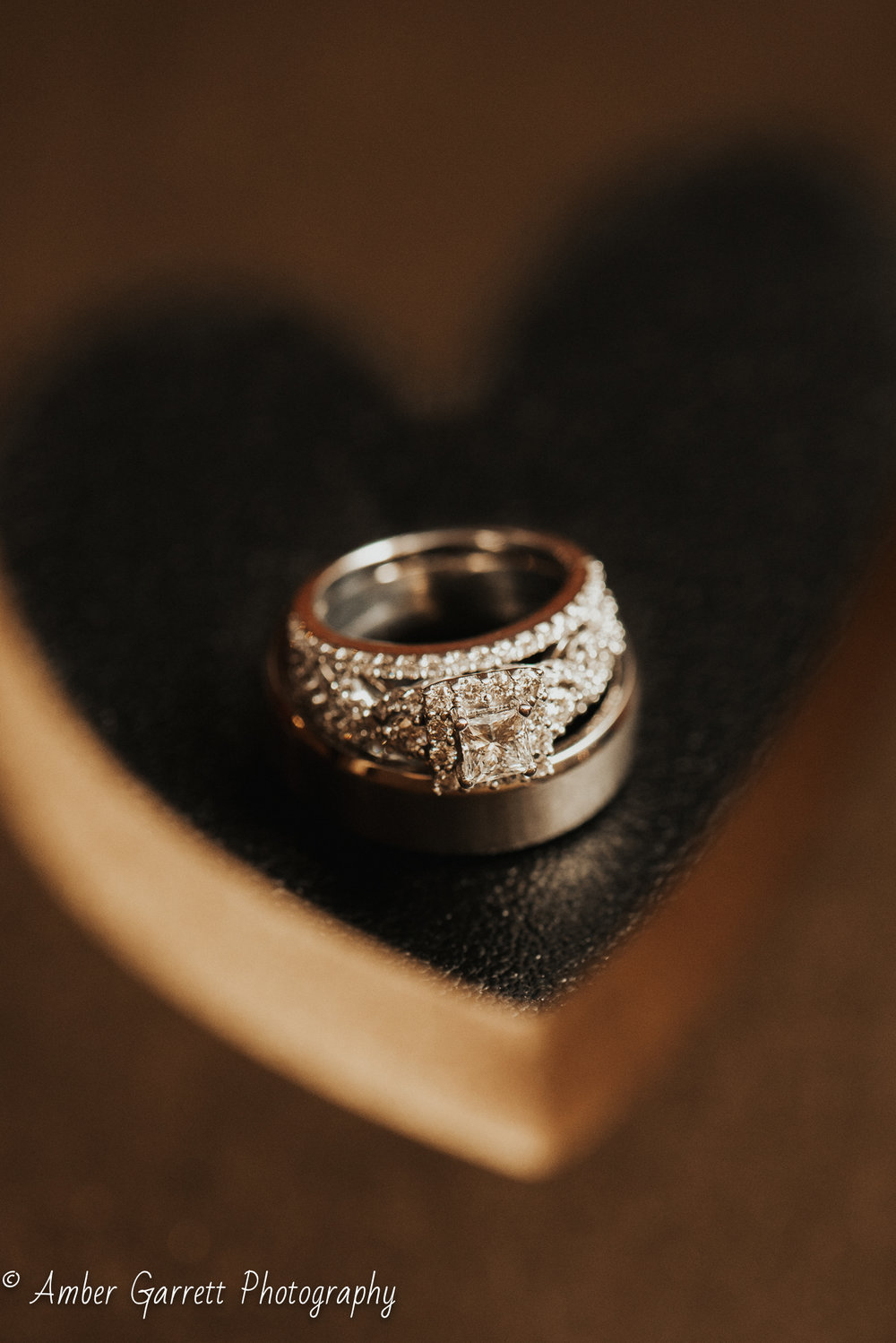 It's clear Samuel put a lot of effort into picking the perfect ring for his bride. -