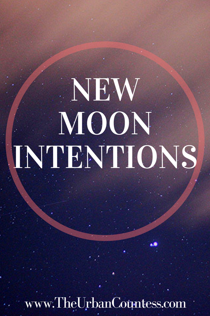 New Moon Intentions| Let's talk about new moon intentions! I'm sharing my goals to find inspiration and be more creative. Come share yours too! www.TheUrbanCountess.com