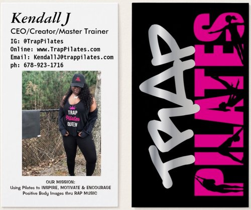 Trap pilates instructor business cards rainbowpilatestrappilates trap pilates instructor business cards reheart Images